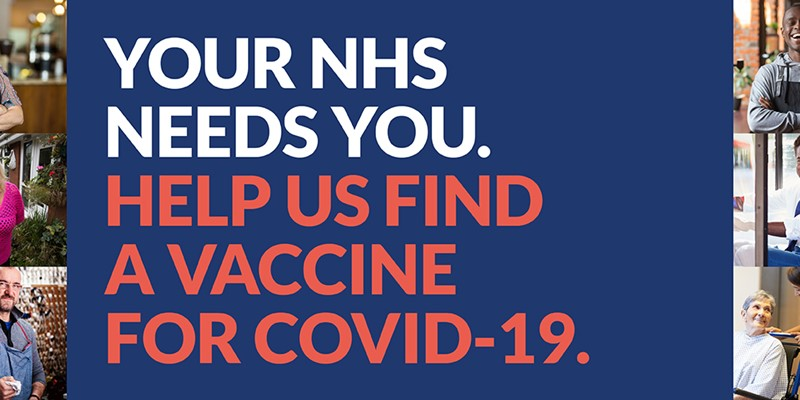 Volunteer to help find the vaccine for COVID-19