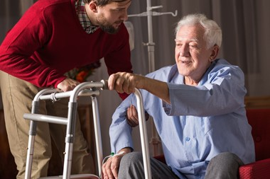 Helping caregivers look at aspects of their caregiving situation in a positive way